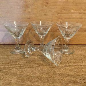Princess House Aston Etched Liquor Cocktail Glass